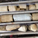 Rock cores obtained from ground investigation specified by Geofirma Ltd.